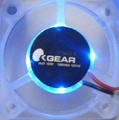 Okgear 40x10mm Crystal Clear Fan with 4 Blue LED