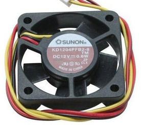 Sunon 40 mm x 10mm Fan KD1204PFV2, 3 pin