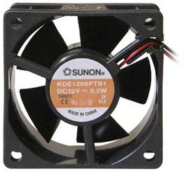 Sunon KDE1206PTB1 60x60x25mm Fan, 3pin