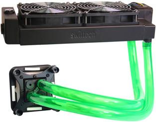 Swiftech H2O-220-Edge-HD-BK Dual 120mm H2O-X20 Edge HD Water Cooling Kit