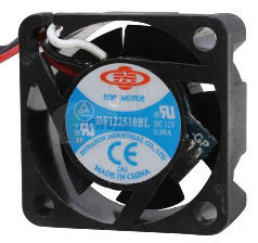 Top Motor DF122510BH 25x10mm Fan, 3Pin