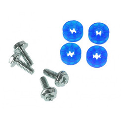 Lamptron HDD Rubber Screws  - Blue (4 Pack)