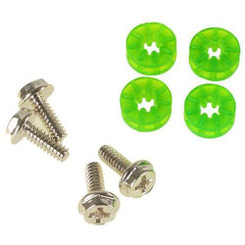 Lamptron HDD Rubber Screws  - Green (4 Pack)