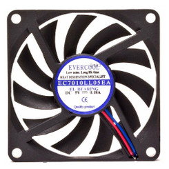 EVERCOOL EC7010LL05EA 70X10MM LOW SPEED 5V FAN, 3Pin