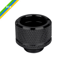 Thermaltake CL-W064-CU16BL-A Pacific G1/4 PETG Tube 5/8inch (16mm) OD Adapter – Black