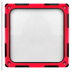 Silverstone SST-FF124BR-E (Black/Red) 120mm ABS Silicon Magnet Fan Filter