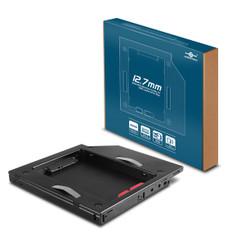 Vantec MRK-HC127A-BK SSD/HDD Aluminum Caddy for 12.7mm ODD Laptop Drive Bay