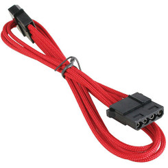 BitFenix BFA-MSC-MM45RK-RP Alchemy Multisleeved 45cm 4Pin Molex Male to 4Pin Molex Female Extension Cable (Red)