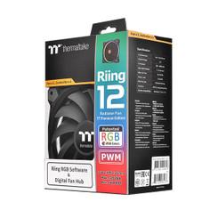 Thermaltake CL-F049-PL12SW-A TT Riing 12 RGB Radiator PWM Fan TT Premium Edition (3 Fan Pack)