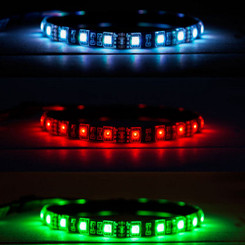 Kingwin KRGB-LED-12 Vivid RGB Multi-Color 12inch Flexible LED Strip