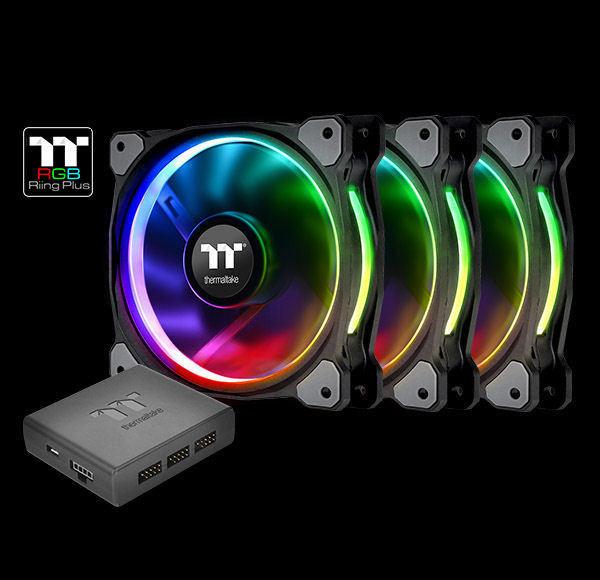 LED Fan Triple Pack White Thermaltake CL-F055-PL12WT-A Riing 12