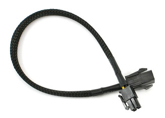 CB-P4-P4 P4 ATX 4 Pin Extension Cable, Black Sleeved