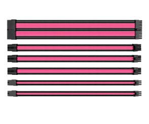 Thermaltake AC-046-CN1NAN-A1 TtMod Sleeve Cable Set – Pink/Black