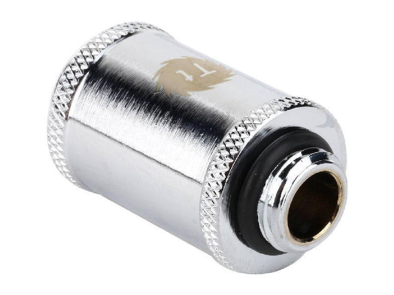 Thermaltake CL-W045-CU00SL-A Pacific G1//4 Female to Male 10mm Extender Chrome