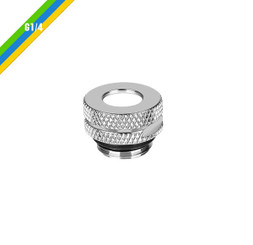 Thermaltake CL-W086-CU00SL-A Pacific G1/4 Pressure Equalizer Stop Plug w/ O-Ring - Chrome
