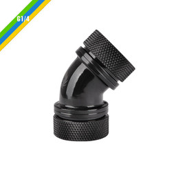 Thermaltake CL-W098-CA00BL-A Pacific G1/4 PETG Tube 45-Degree Dual Compression 16mm OD – Black