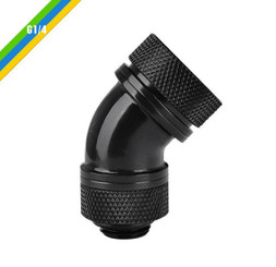 Thermaltake CL-W096-CA00BL-A Pacific G1/4 PETG Tube 45-Degree Compression 16mm OD – Black