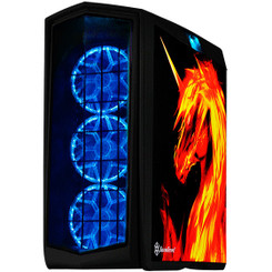 Silverstone SST-PM01B-FX (black with RGB LED + graphics side panel + tempered glass window) Case