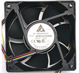 Delta AFB1212HHE-PWM 120x38mm Dual Ball Bearing High Speed Fan, 4Pin PWM