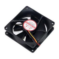 EverCool EC8025HH12BA 80x25mm Dual Ball Bearing Hi-Speed Fan, 3pin