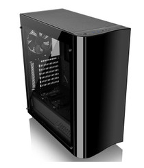 Thermaltake CA-1J3-00M1WN-00  View 22 Tempered Glass Edition Mid-Tower Chassis