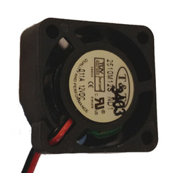 T & T 2510M12SND1 25X10MM 0.11A 12VDC FAN, 2 Bare Wire (Red/Black)