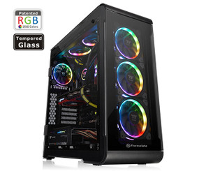 Thermaltake CA-1J2-00M1WN-00 View 32 Tempered Glass RGB Edition Mid-Tower Chassis