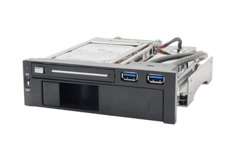 SYBA SY-MRA55006 5.25inch Bay Dual SATA HDD Mobile Rack