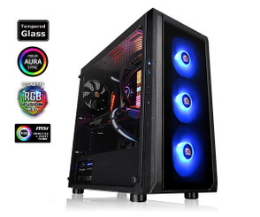 Thermaltake CA-1L6-00M1WN-01 Versa J23 Tempered Glass RGB Edition Mid-Tower Chassis