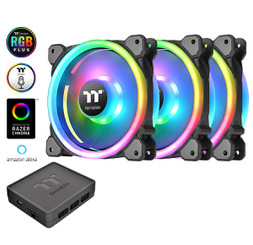 Thermaltake CL-F077-PL14SW-A Riing Trio 14 LED RGB Radiator Fan TT Premium Edition (3-Fan Pack)