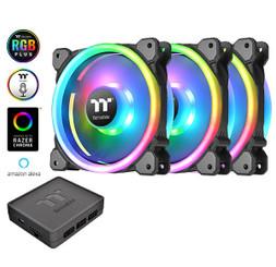 Thermaltake CL-F077-PL14SW-A Riing Trio 14 LED RGB Radiator Fan TT Premium Edition (3-Fan Pack)