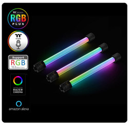 Thermaltake CL-W185-CU00BL-A Pacific RGB Plus TT Premium Edition G1/4 PETG Tube 16mm OD 12mm ID Fitting (6-Pack Fittings)