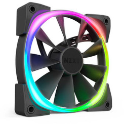 NZXT HF-2812C-T1 Aer RGB 2 Starter Kit 3x 120mm LED Case Fan with HUE 2 Controller