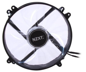 NZXT RF-FZ20S-W1 Airflow Series  200mm White LED Case Fan