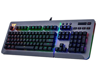 Thermaltake TTGaming KB-LVT-SSSRUS-01 Level 20 RGB Titanium Mechanical Gaming Keyboard (Speed Silver)