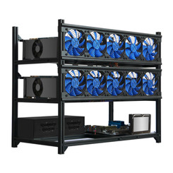 Kingwin KC-12GPU  12xGPU Open Air Slot Mining Case