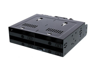 ICY DOCK MB524SP-B 4x2.5 inch SAS/SATA HDD/SSD Trayless Hot Swap Mobile Rack