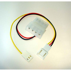 CB-YA-334 3Pin Male (Fan) to 3 Pin Female (RPM) / 4 Pin Molex (Power)