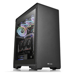 Thermaltake CA-1O3-00M1WN-00 S500 Tempered Glass Mid-Tower Chassis