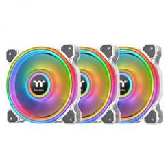 Thermaltake  CL-F100-PL12SW-B Riing Quad 12 RGB Radiator Fan TT Premium Edition 3 Pack - White