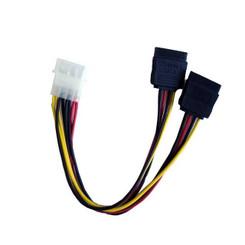 POWSATA-Y 4Pin Molex Male to 2 x SATA Female Power Splitter Cable