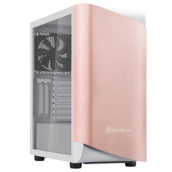 Silverstone SST-SEA1GW-G (Rose Gold/White, Tempered Glass) SETA A1 ATX Mid Tower Case