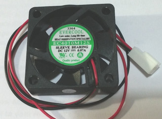 EverCool EC4010M12S 40x10mm Sleeve Fan, 2 Wire 2Pin Connector
