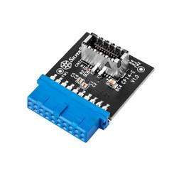 Silverstone SST-CP14-E  USB3.0 Internal 19Pin to USB3.1/3.2 20Pin Key-A Adapter