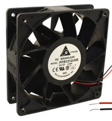 Delta PFB1212UHE  Extreme Hi 120x38mm Fan, 2 Bare Wires