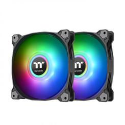 Thermaltake  CL-F115-PL12SW-B Pure Duo 12 ARGB Sync Radiator Fan (2-Fan Pack)-Black