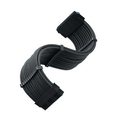 Silverstone SST-PP07E-MBB 24Pin Power Extension Cable, Black Sleeved
