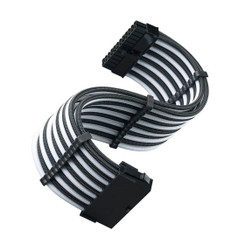 Silverstone SST-PP07E-MBBW 24Pin Power Extension Cable, Black/White Sleeved