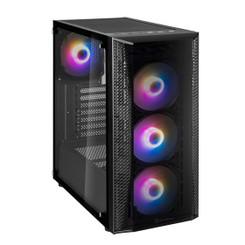 Silverstone SST-FAB1B-PRO (Black + ARGB Fans + Tempered Glass) FARA B1 PRO Mid Tower 4x120mm RGB Fan