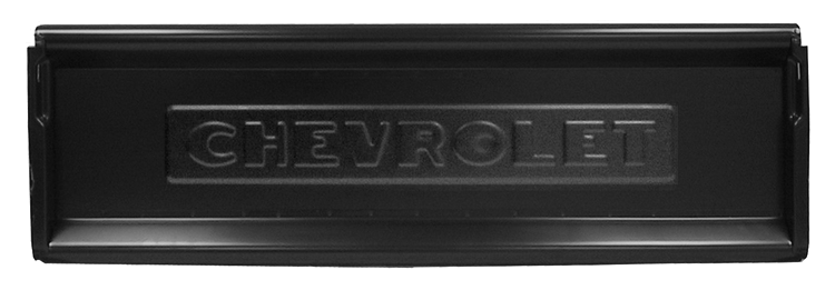 1947-53 tailgate with Chevrolet logo
